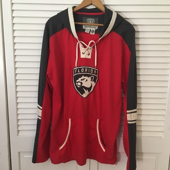 wholesale dealer 97fd6 57f44 Old Time Hockey hooded Florida Panthers jersey